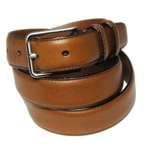 Tobacco Road Rocker Black Leather Belt Gear Chain Buckle